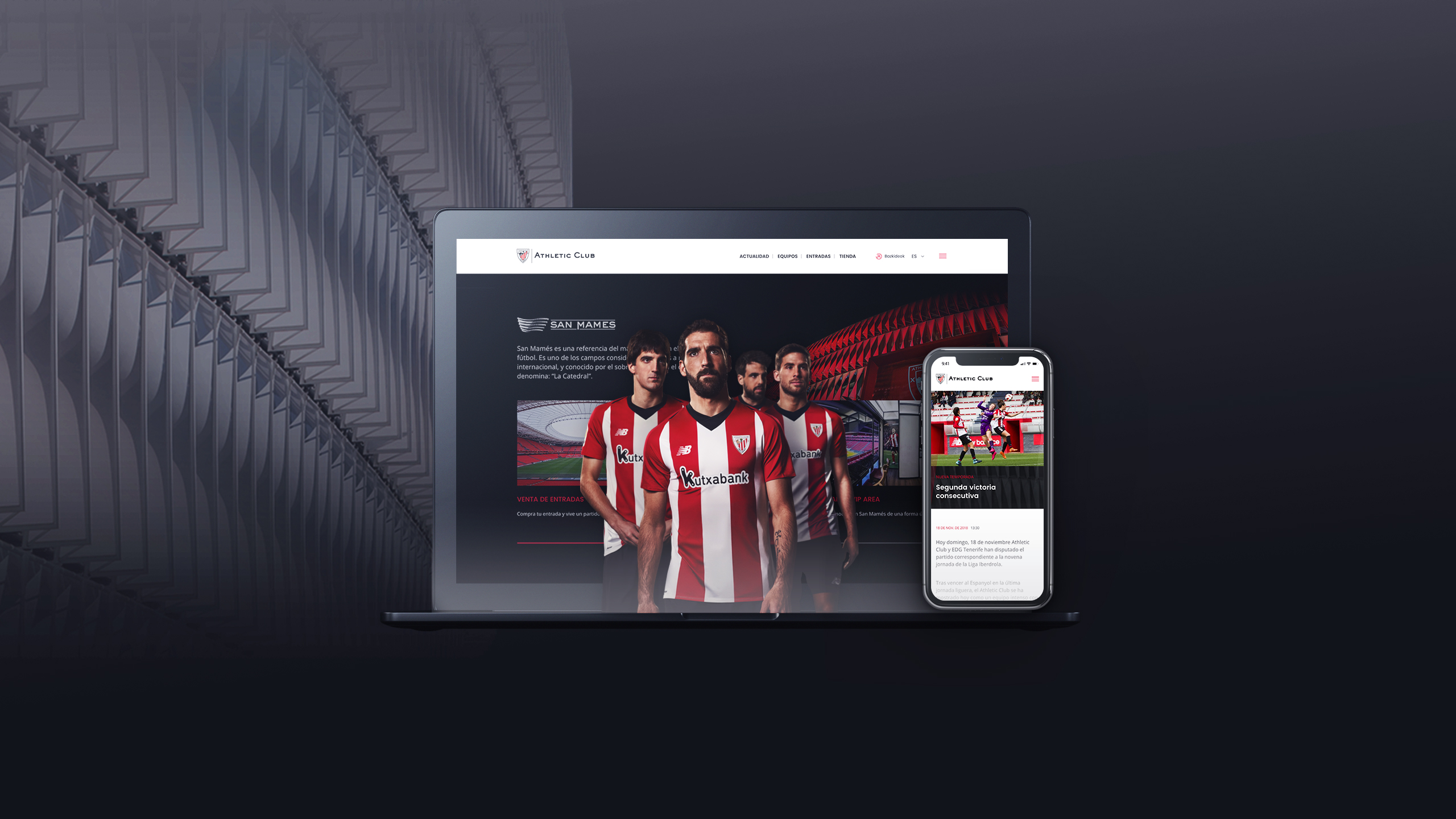 Athletic Club presents its new website