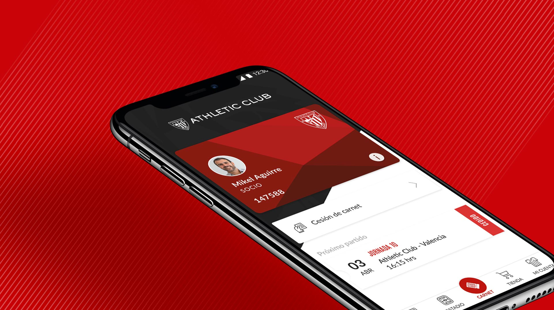 ATHLETICKET App: here is the digital card