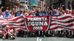 The Peñista Eguna dyes the streets of Sestao with red-and-white