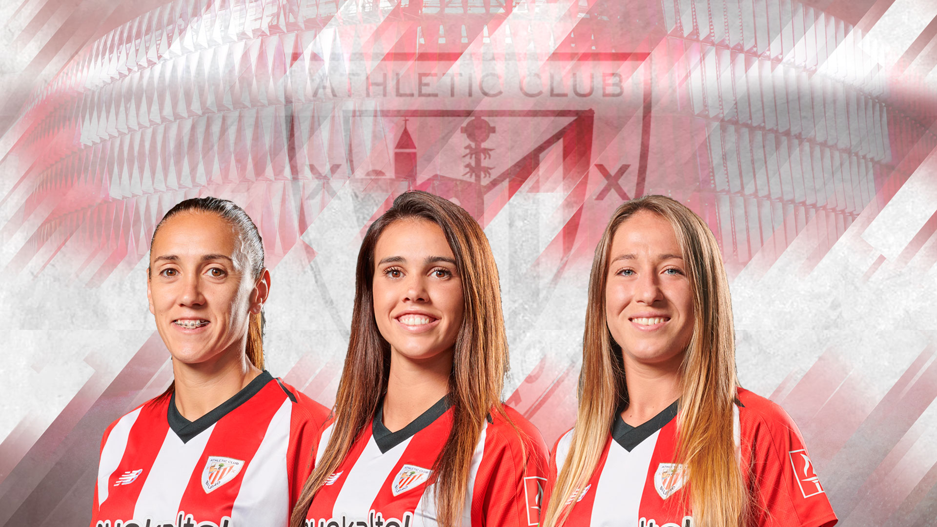 Vanesa Gimbert, Jone Ibáñez, and Ainhoa Álvarez renew with Athletic Club