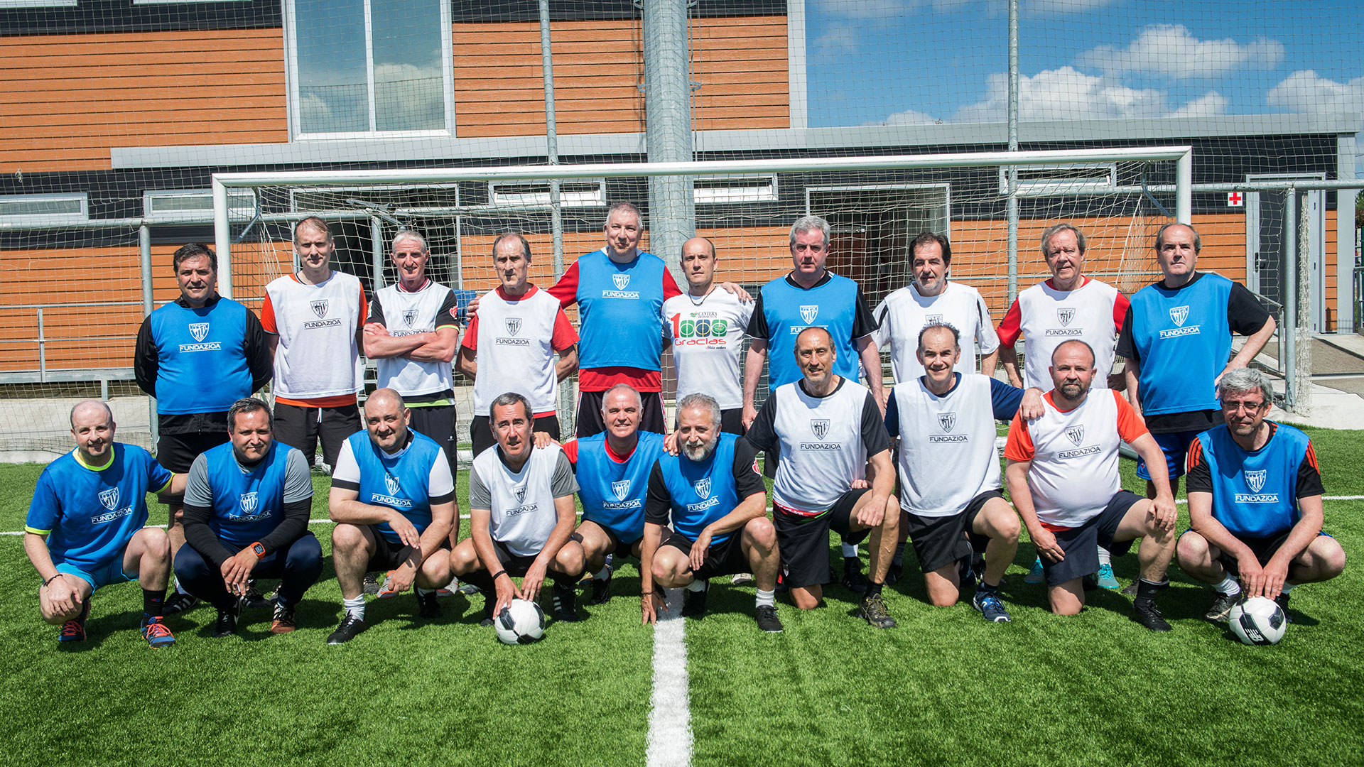 First walking football training