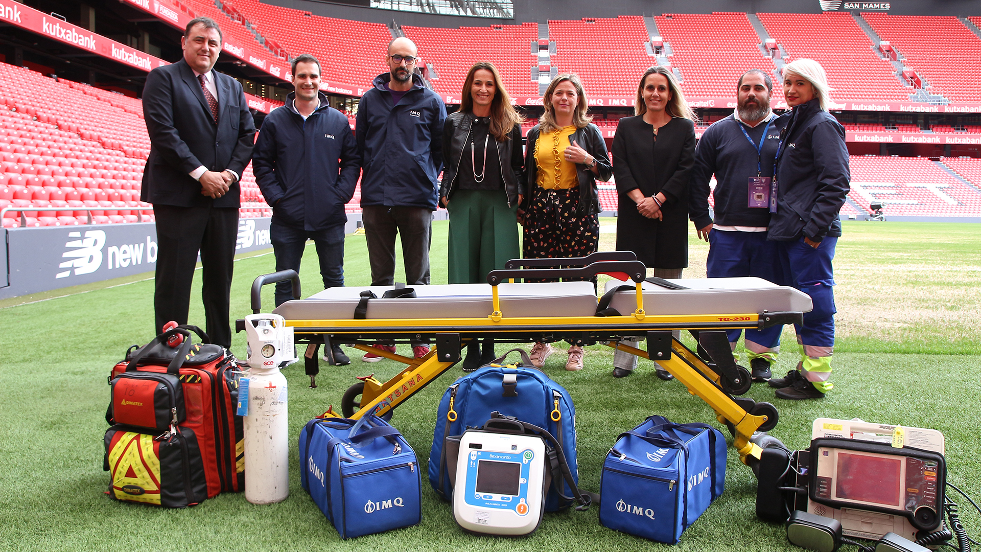 San Mamés renews its accreditation as the stadium with the best health security in Europe