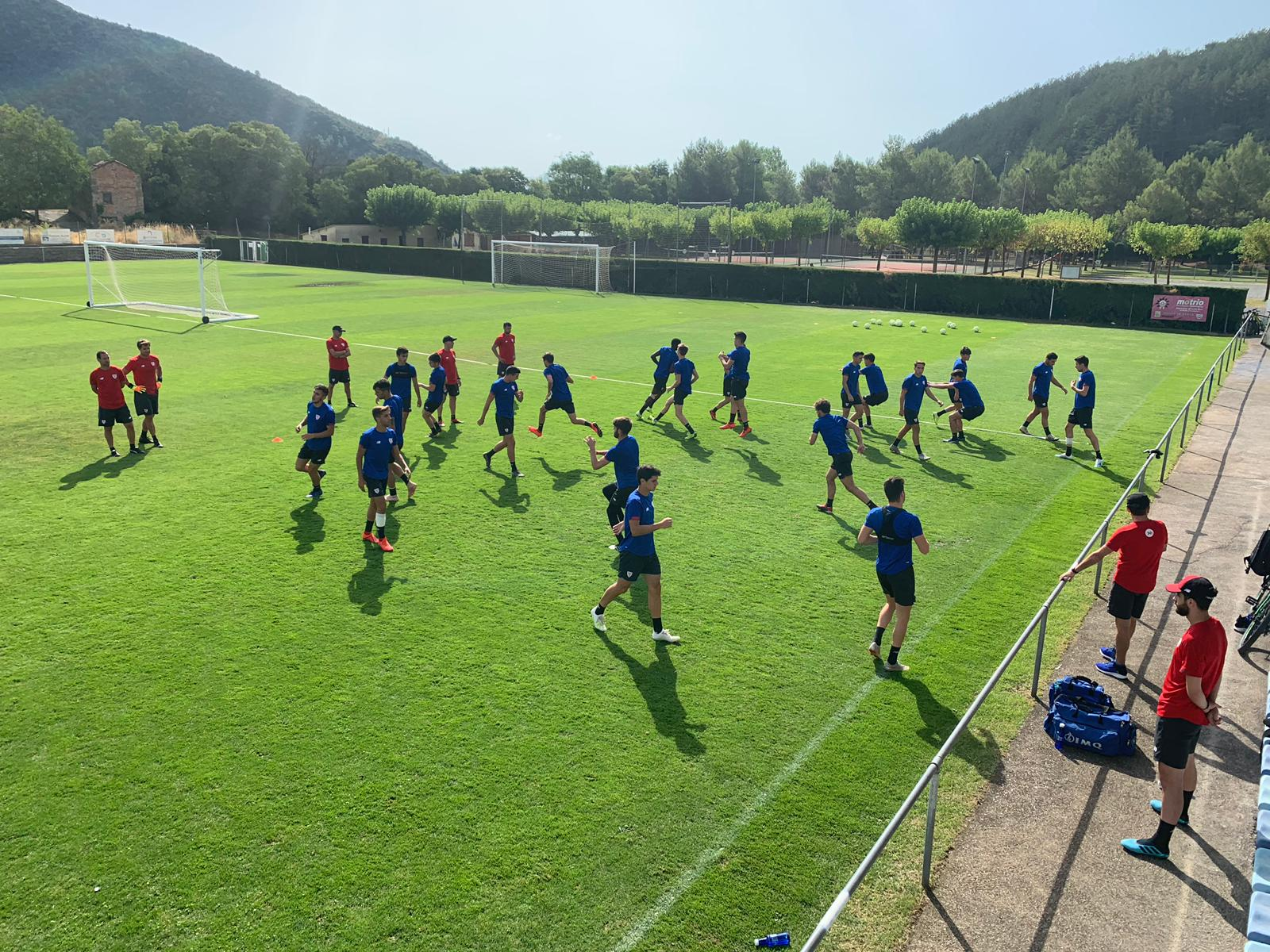 Concentración del Bilbao Athletic en Boltaña