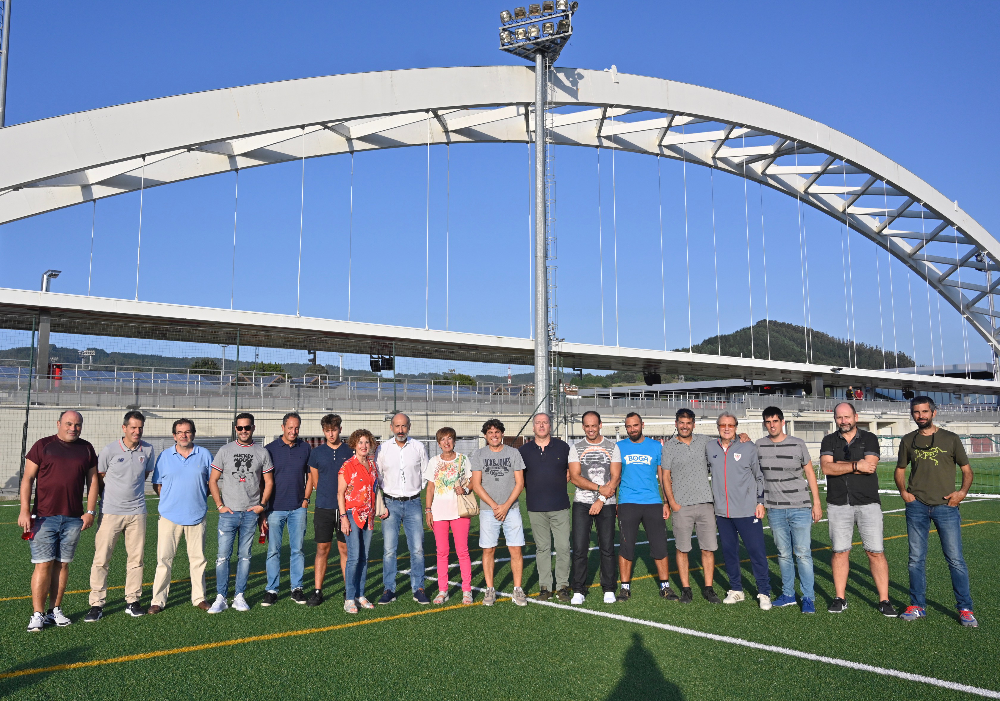 The first experience of the guided tours to Lezama