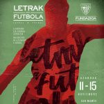 All set up for the 10th Edition of Letras y Fútbol (Literature and Football)