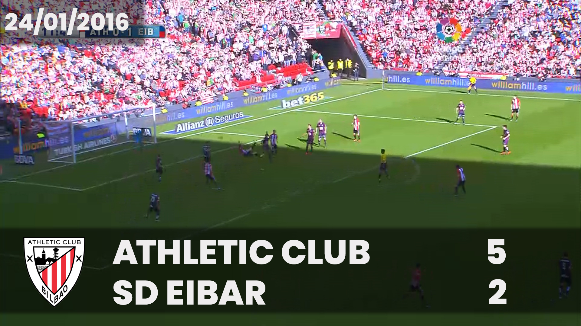 Partido Completo. Athletic 5 – SD Eibar 2 (LaLiga 2015-16)
