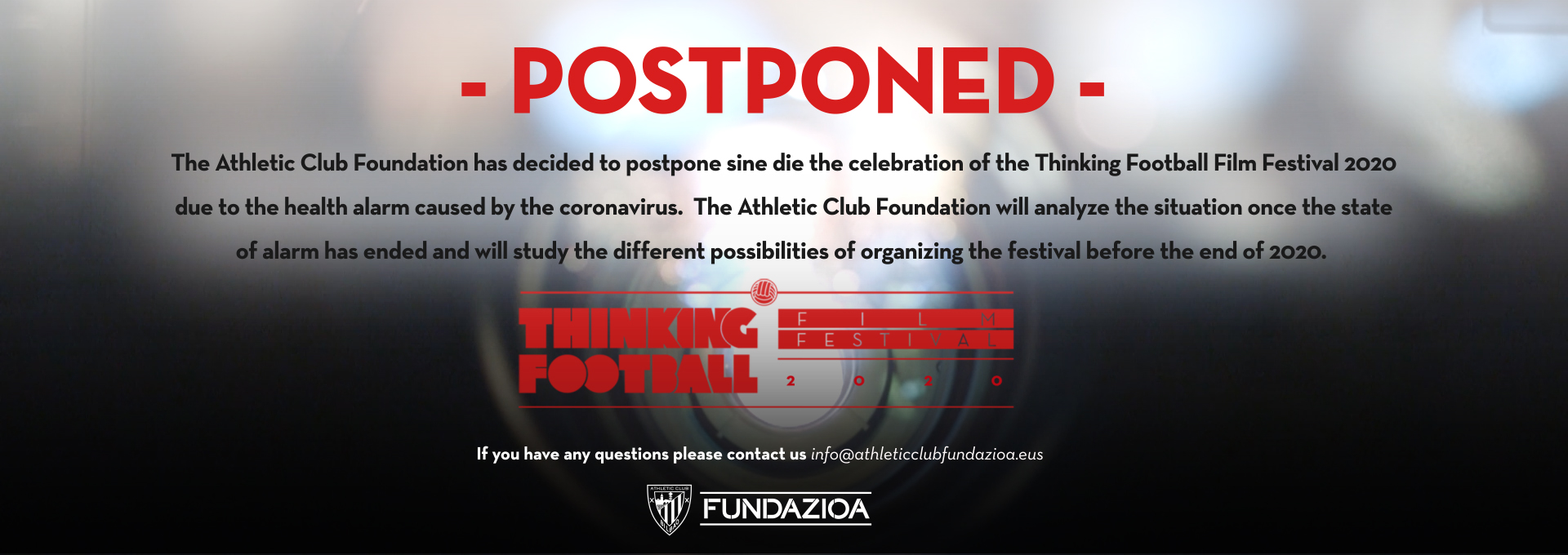 Thinking Football postponed