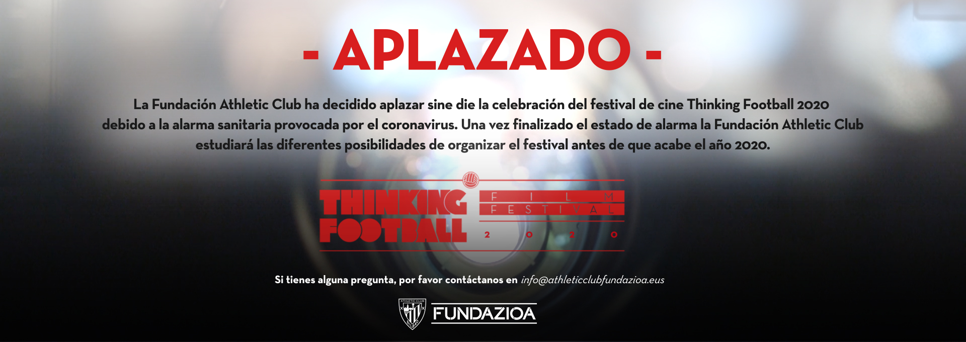 Aplazado el Thinking Football