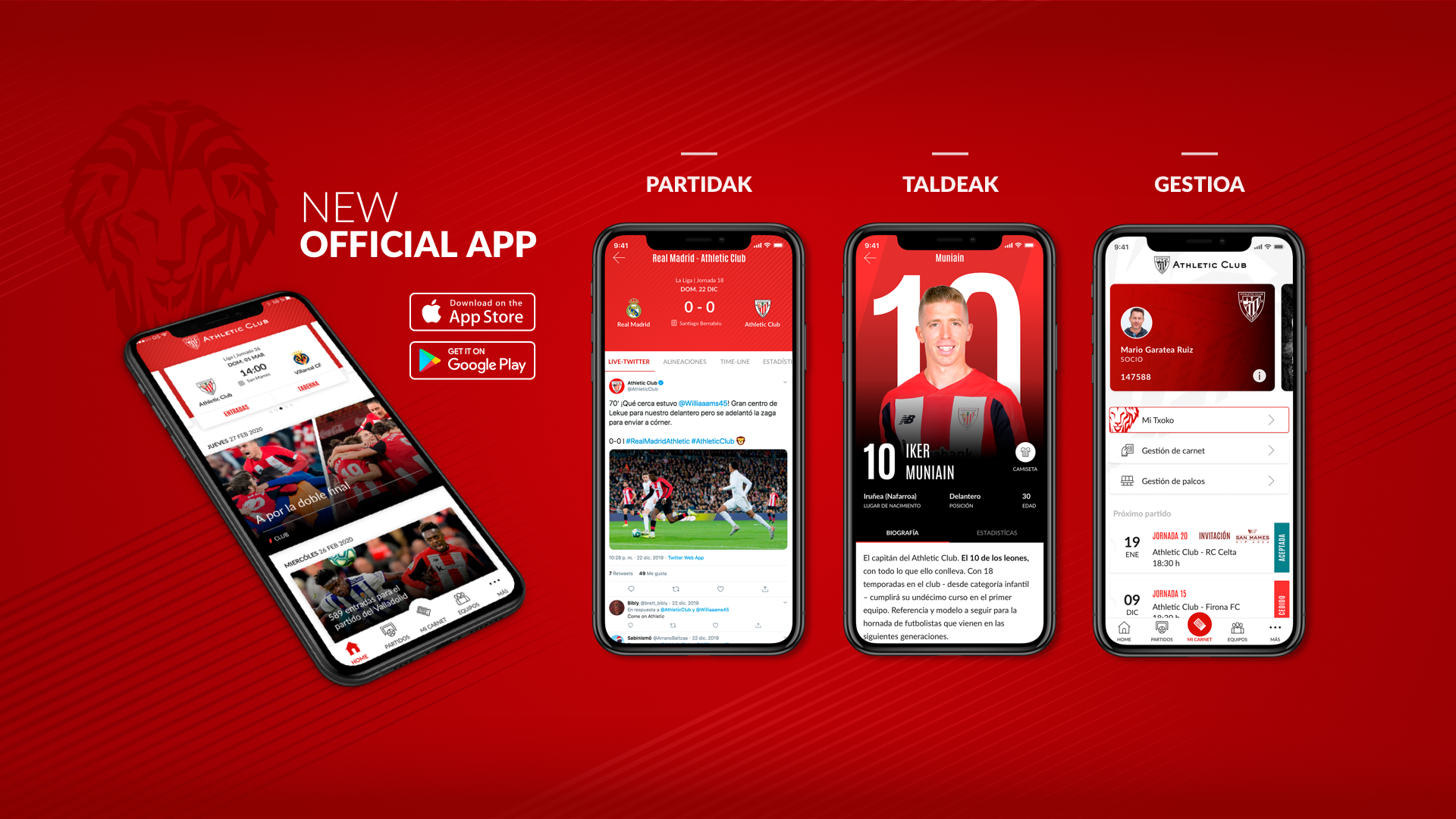 Nueva app Athletic Club
