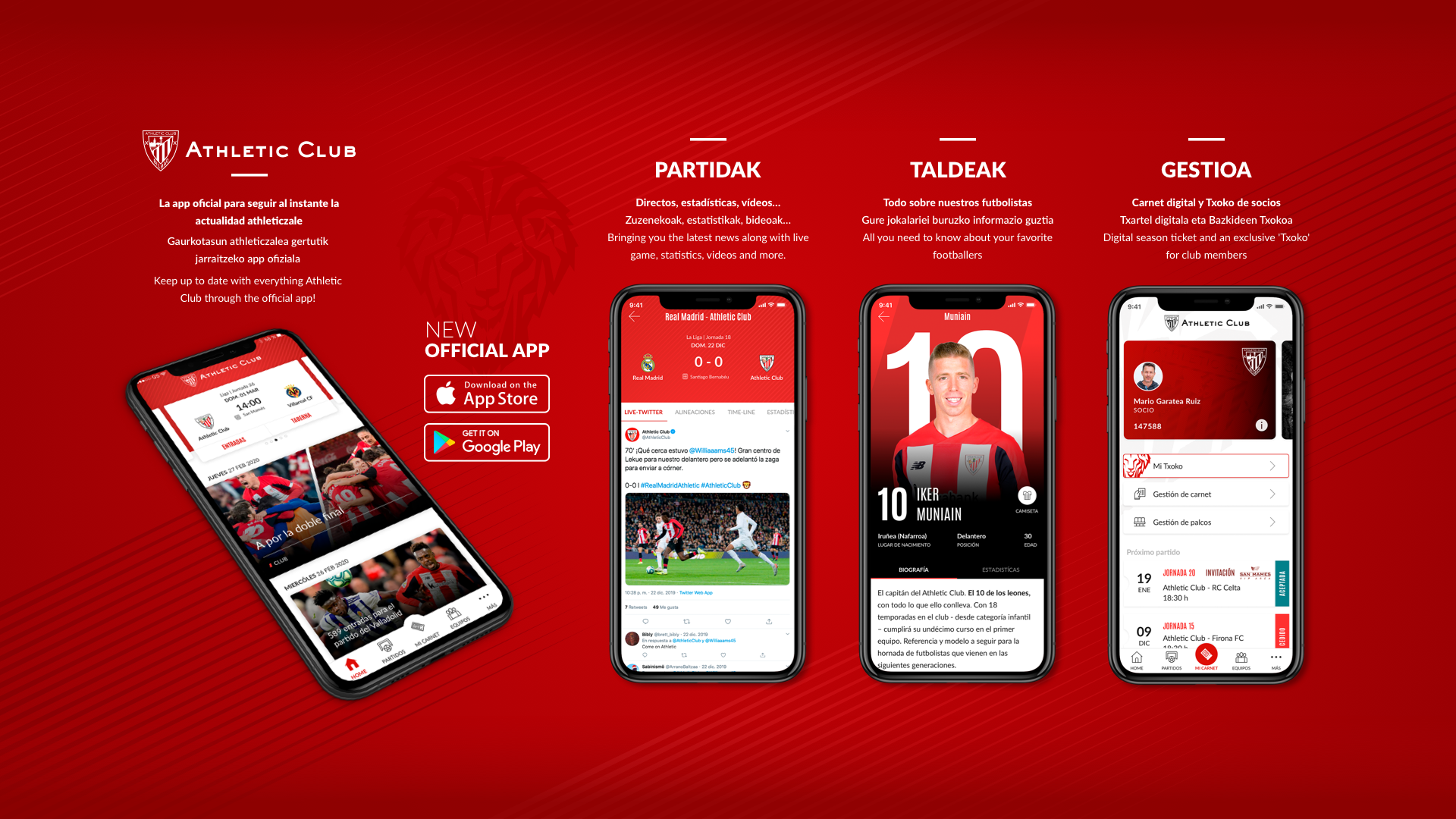 Nueva app oficial del Athletic Club
