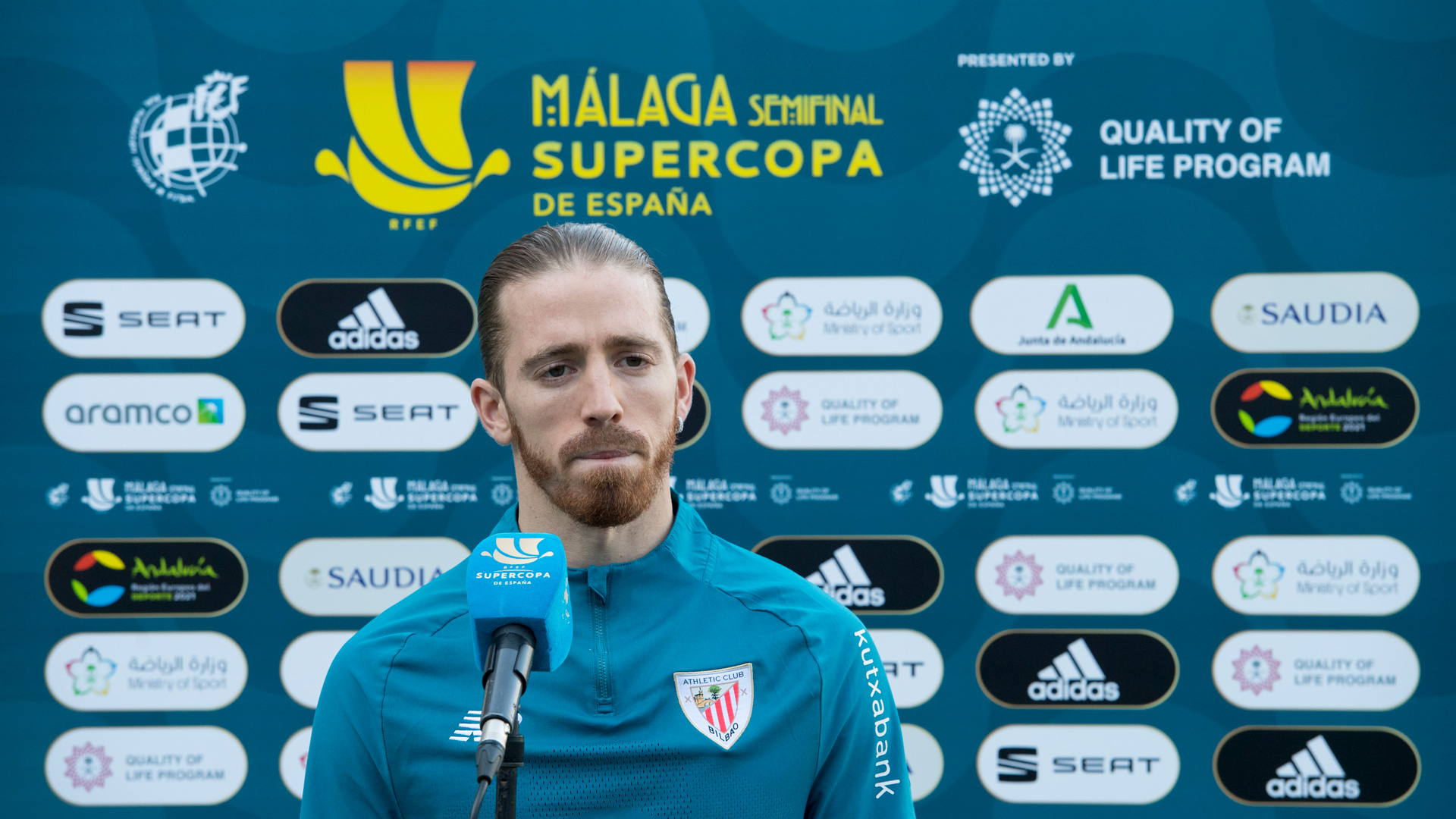 Supercopa 2021. Marcelino eta Muniain