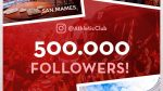 Giveaway for 500,000 followers on Instagram